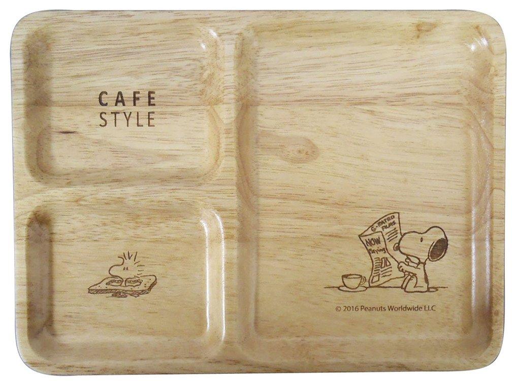 スヌーピー 木製 仕切皿