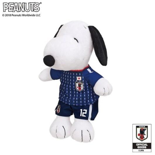 スヌーピー ぬいぐるみ サッカー日本代表 182200