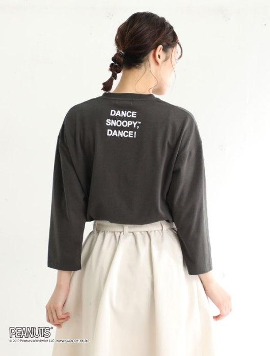 スヌーピーとハニーズコラボの七分袖Tシャツ2020