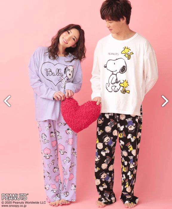 スヌーピーとエメフィールコラボのパジャマ2020春