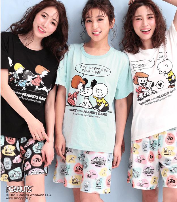スヌーピーとエメフィールコラボのパジャマ2020夏
