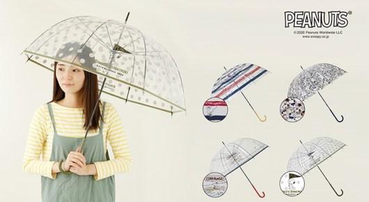 スヌーピー柄のビニール傘