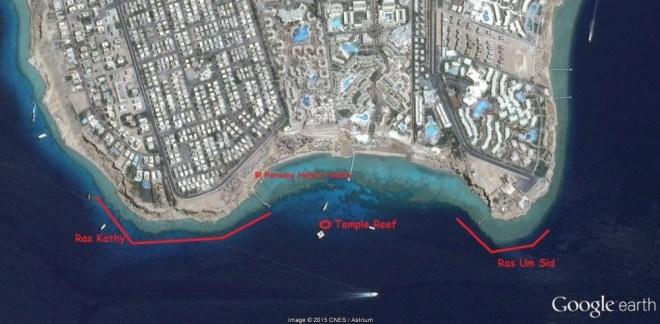 el faraana snorkeling map