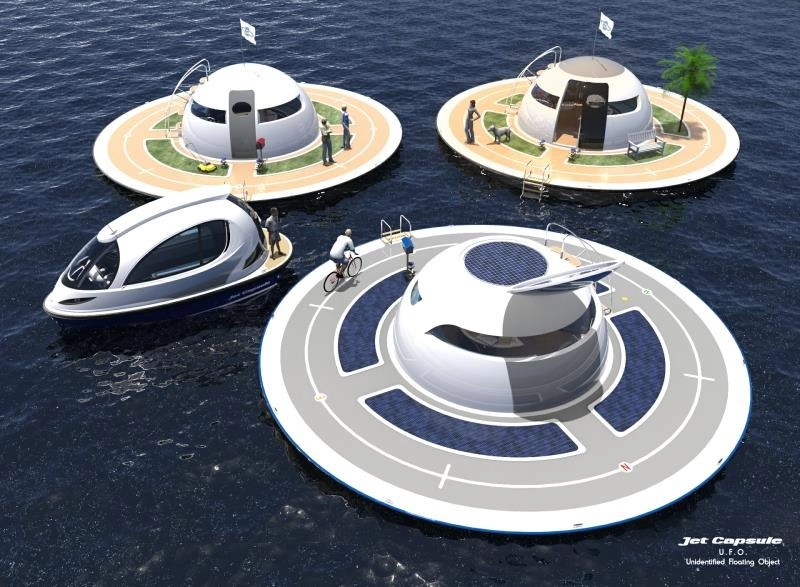 Floating mobile home - UFO 2.0