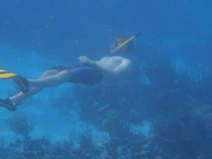 Backwards swimming