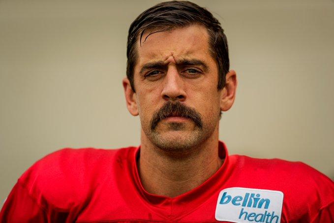 aaron rodgers mustache shirt