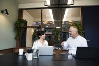 Man and woman Meeting in an Office