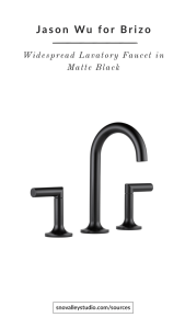 Fixtures – Vanity: Jason Wu for Brizo – Odin™ Collection Widespread Lavatory Faucet