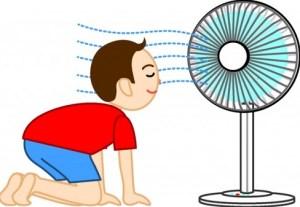 扇風機は涼しい