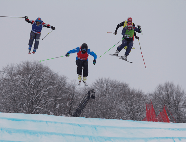 anton grimus out in front at the recent pre-olympic world cup in sochi © ramone cooper