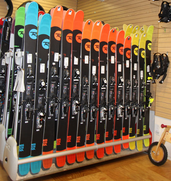 Fatter Rossis in rental rack = more snow at Grand Targhee