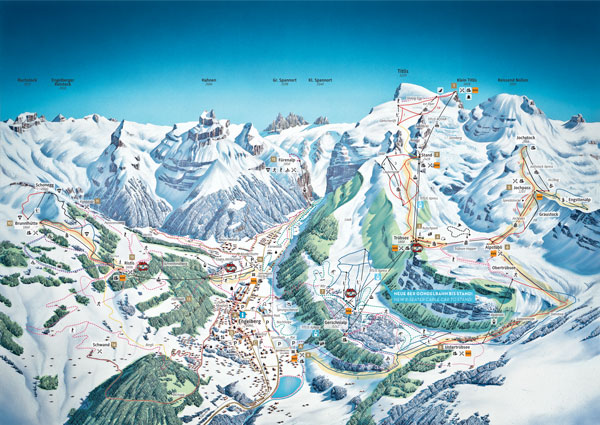 Engelberg-Titlis Trail Map