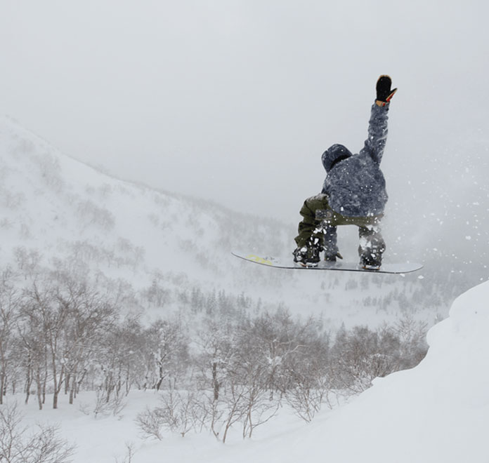Snowboarding Asahidake
