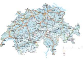 Swiss snow map