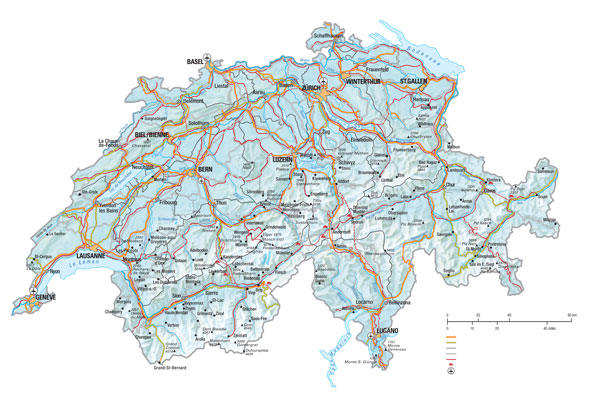 Swiss snow map