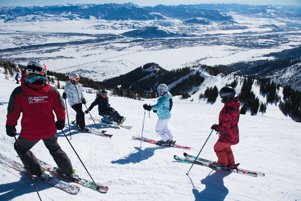 Skiing with elevate Women's Camp Jackson Hole