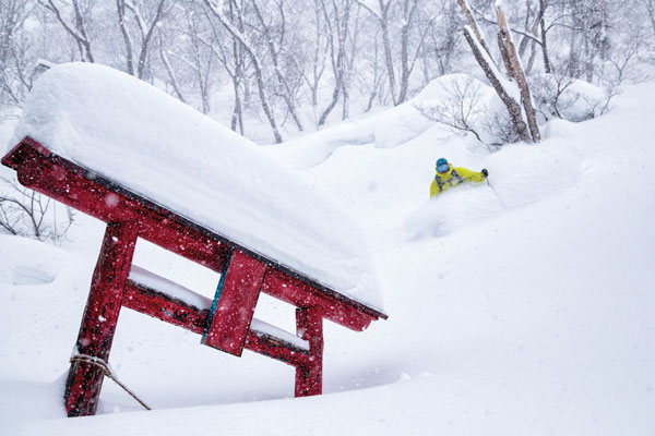 Nozawa Onsen powder and shrines