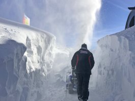 Snow clearing at Verbier