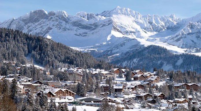 Villars in winter