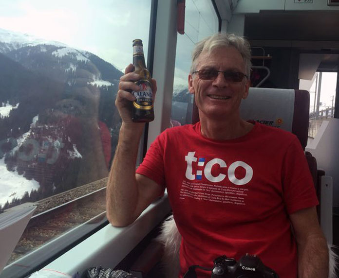 Relaxing on the Glacier Express