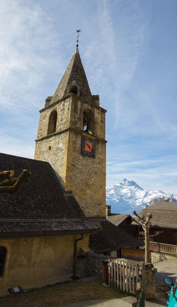 Historic Village below Villars