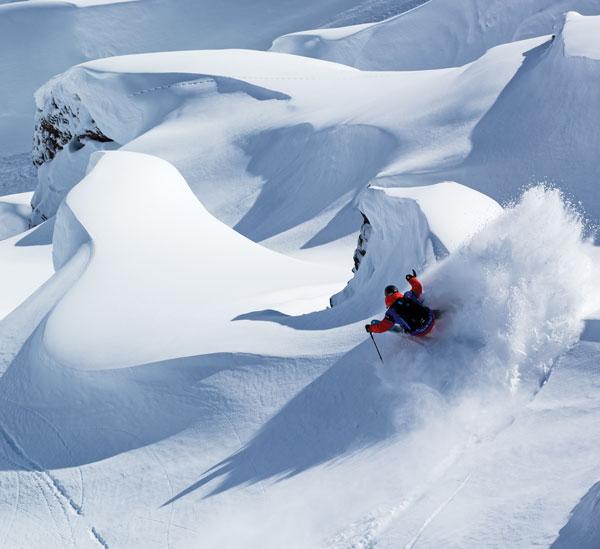 Skiing Zermatt glaciers
