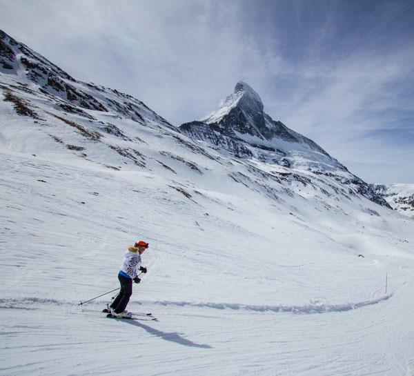 Zermatt skiing off Hirli lift
