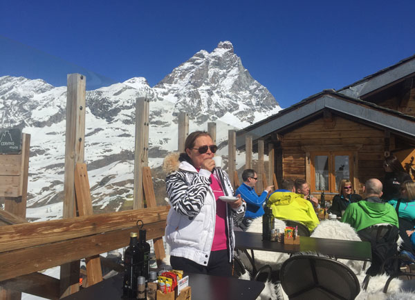 lunch at Cervinia from Zermatt