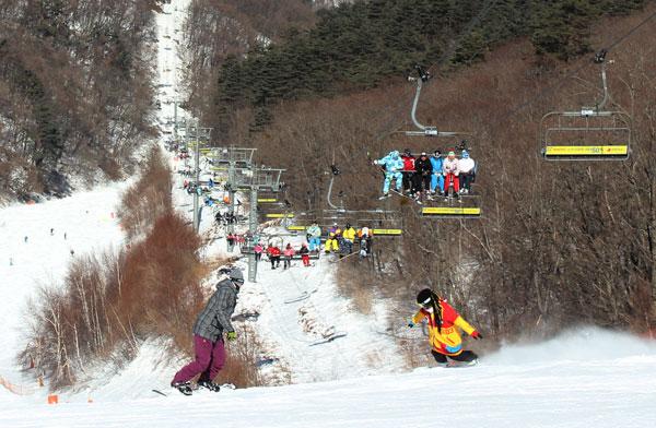 Snowboarding at Yongpyong