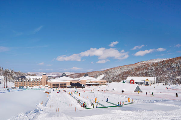 Kiroro ski area base view