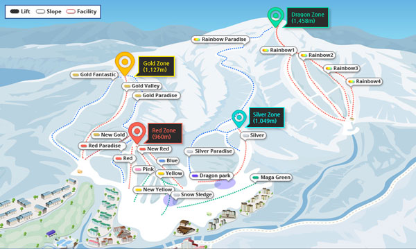 Yongpyong trail map