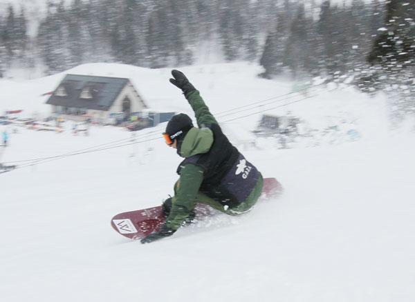 snowboarding at Gala Yuzawa