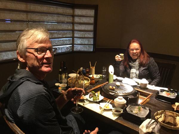 dining at Tatsumikan Minakami