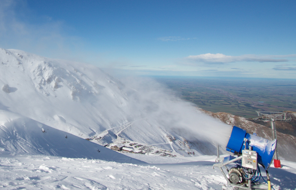 Snow guns at Mt Hutt