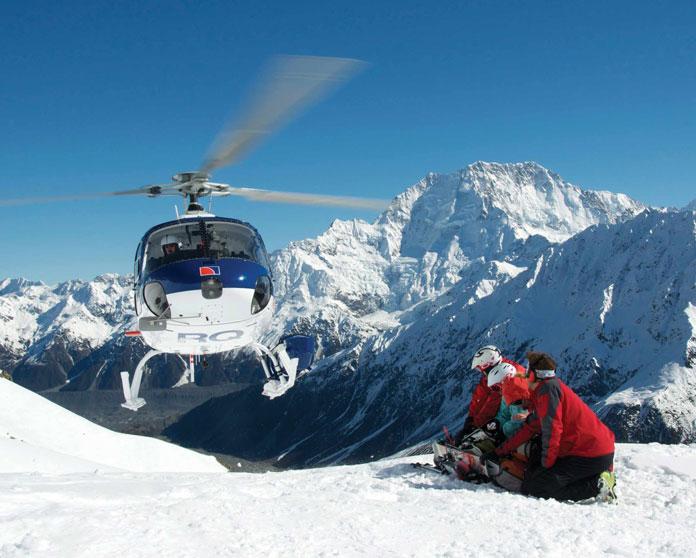 Heli drop off with Mt Cook Heliski New Zealand
