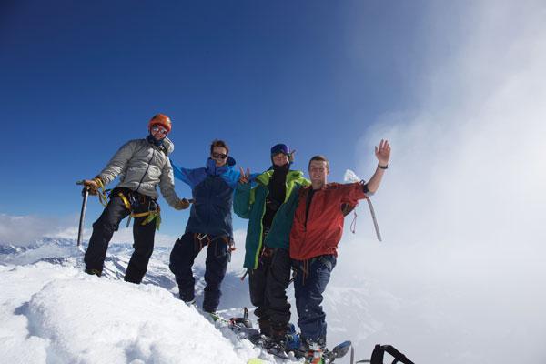 Summit selfie Mt Aspiring