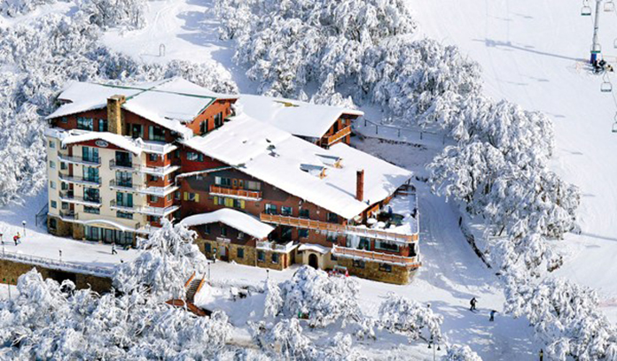 Aerial view of Hotel Pension Grimus