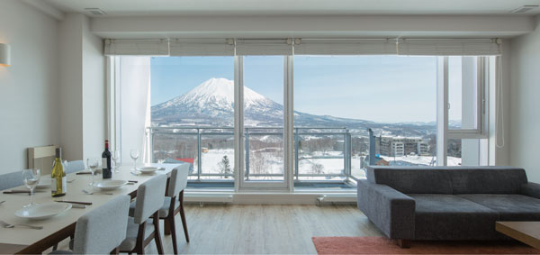 Yotei views from Niseko landmark View apartments