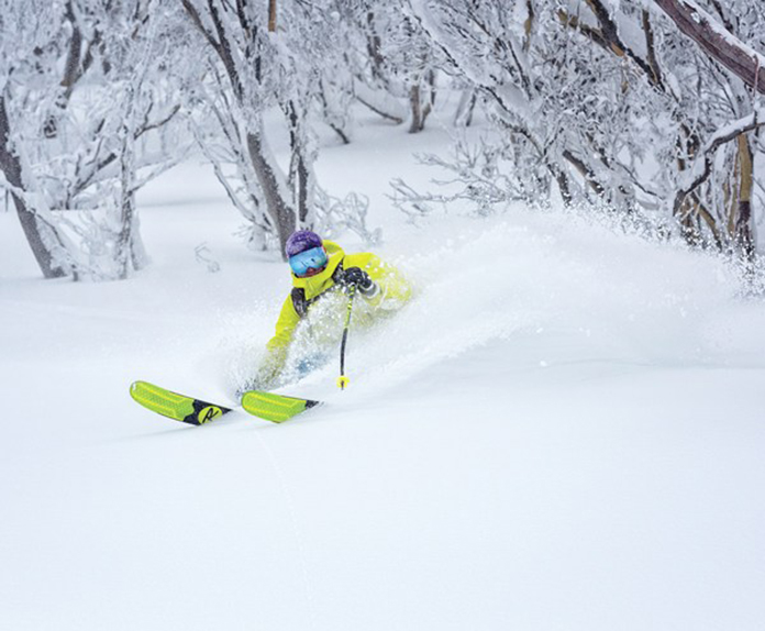 Deep powder skiing Hotham