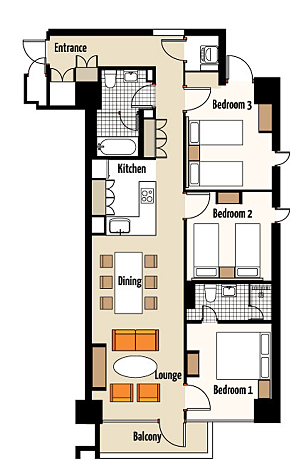 Niseko Landmark View floor plans