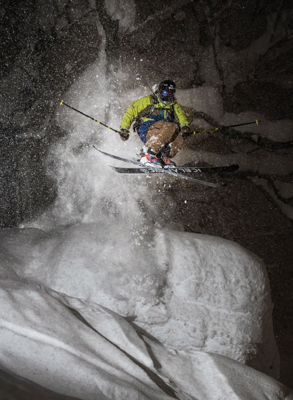 Niseko nights ski pillow line