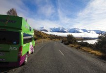 Ski New Zealand road to Ohau