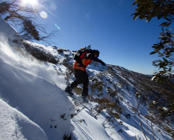 Thredbo backcountry snowboarding