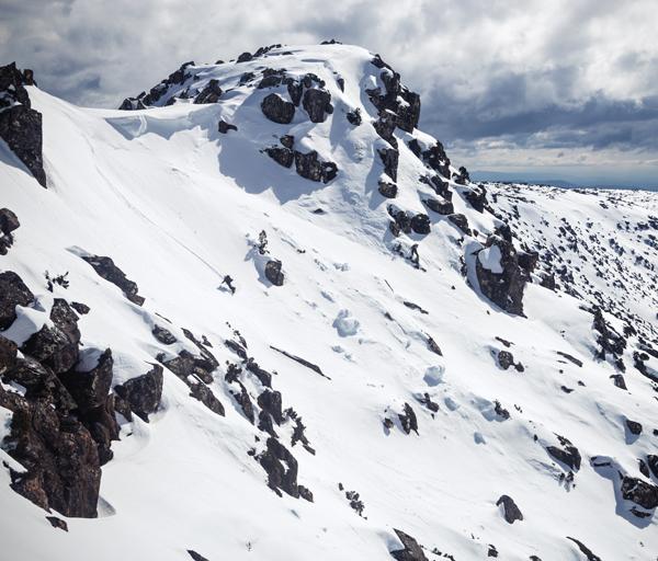 Wild Tasmania skiing the Rodway Range