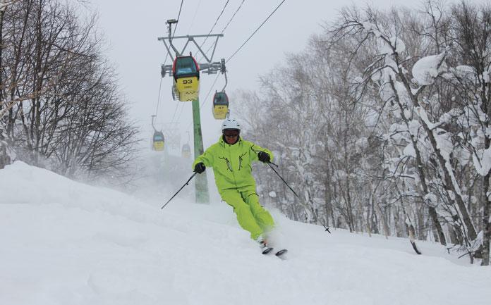 Maeada Mitsu skiing Kamui in 2012