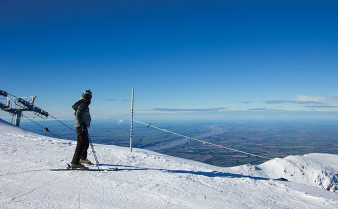 View from top of Mt Hutt