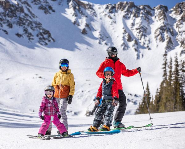 Family skiing Arapahoe Basin
