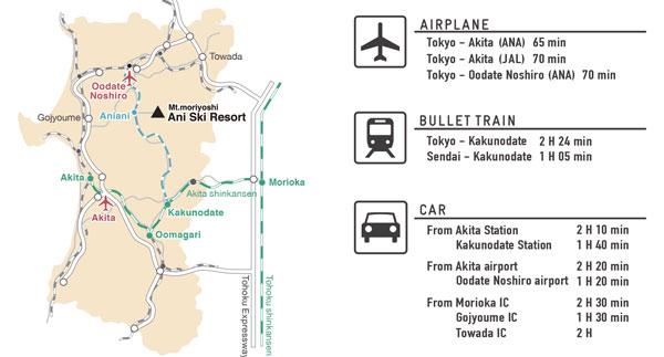 Getting to Ani Ski Resort map