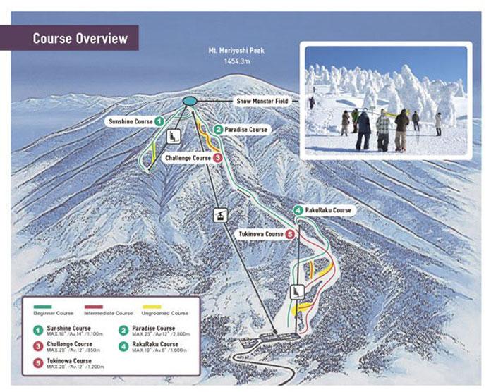 Ani Ski Resort Trail Map