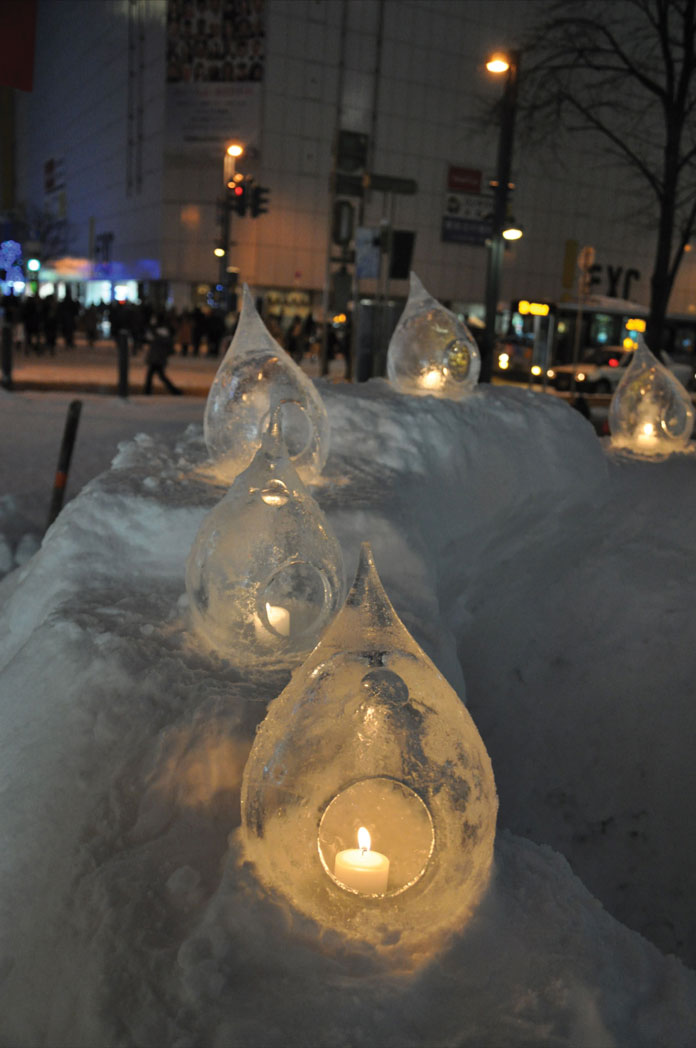 Ice candles Asahikawa City